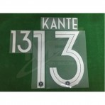 Official KANTE #13 France Home World Cup 2018 PRINT