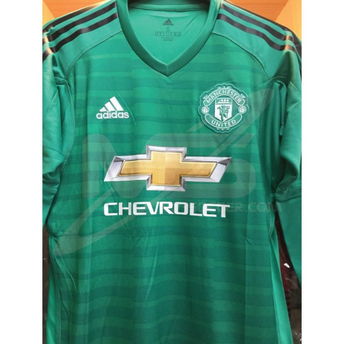 check out 74636 9de30 ADIDAS Manchester United Home Goalkeeper GK 2018-19 Jersey