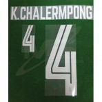 Official K.CHALERMPONG #4 THAILAND HOME 2018 PRINT