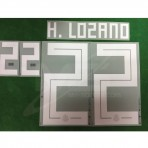 Official H.LOZANO #22 Mexico Home WORLD CUP 2018 PRINT