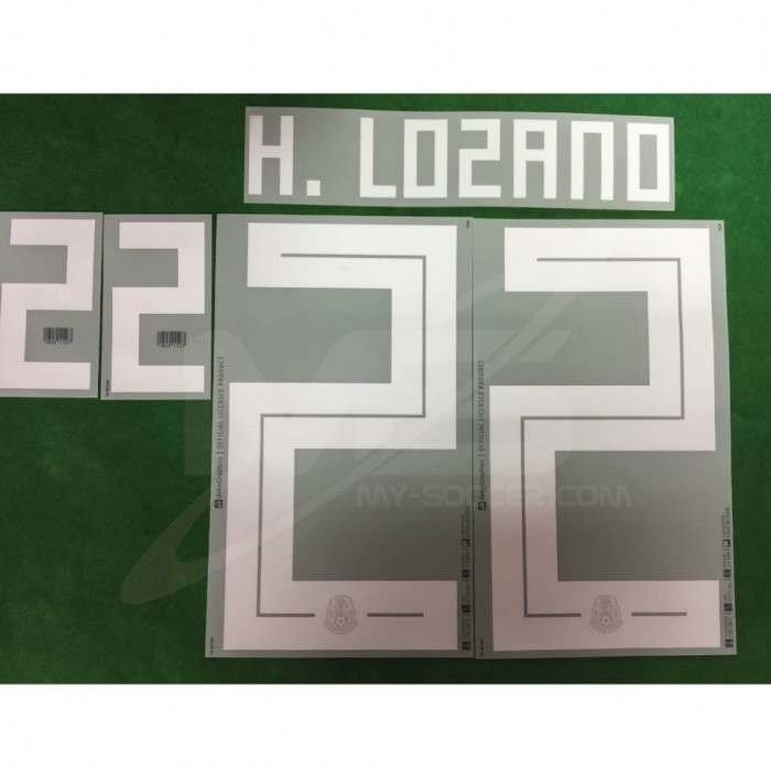 daaf84a3fa8 Official H.LOZANO  22 Mexico Home WORLD CUP 2018 PRINT