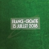 Official FRANCE - CROATIE Match Details for France WC 2018 Home