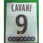 Official CAVANI #9 PSG Away Ligue 1 2018-19 PRINT + OOREDOO Sponsor