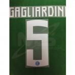 Official GAGLIARDINI #5 Inter Milan Home 2018-19 PRINT