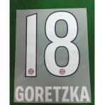 Official GORETZKA #18 Bayern Munich Home 2018-19 DEKOGRAPHICS PU PRINT