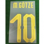 Official M.GOTZE #10 Borussia Dortmund Away 2018-19 PU PRINT