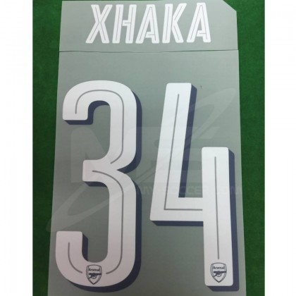 Official XHAKA #34 Arsenal Home CUP 2018-19 PRINT