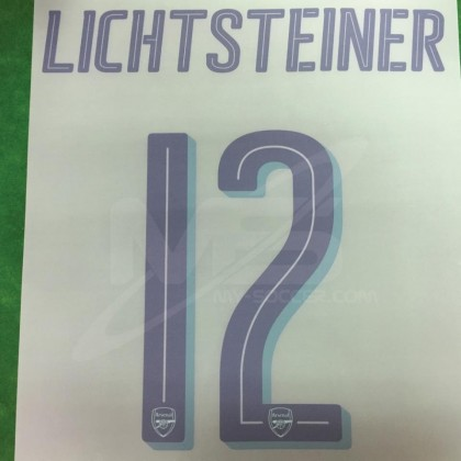 Official LICHTSTEINER #12 Arsenal 3rd CUP 2018-19 PRINT