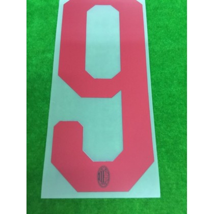 Official HIGUAIN #9 AC Milan Away 2018-19 Name Number