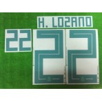 Official H.LOZANO #22 Mexico Away WORLD CUP 2018 PRINT