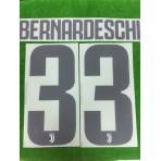 Official BERNARDESCHI #33 Juventus Home 2018-19 PRINT