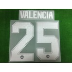 Official VALENCIA #25 Manchester United Home CUP UCL 2018-19 PRINT