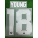 Official YOUNG #18 Manchester United Home CUP UCL 2018-19 PRINT