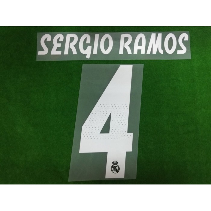 Official SERGIO RAMOS  4 Real Madrid Away 2018-19 PRINT fc285934e
