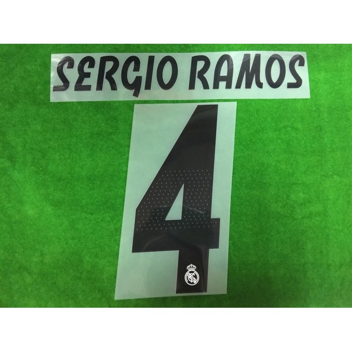 detailed look 84d23 dcfaf Official SERGIO RAMOS #4 Real Madrid Home 2018-19 PRINT