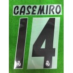 Official CASEMIRO #14 Real Madrid Home 2018-19 PRINT