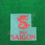 OFFICIAL BIA SAIGON LEICESTER CITY Away 2018-19 PLAYER VERSION sleeve sponsor PRINT