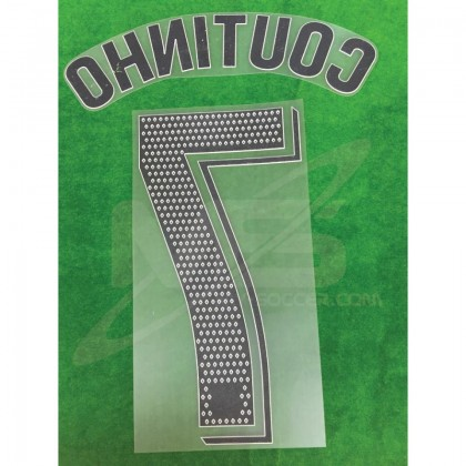 OFFICIAL PLAYER ISSUE COUTINHO #7 FC Barcelona Home 2018-19 PRINT