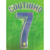 OFFICIAL PLAYER ISSUE COUTINHO #7 FC Barcelona Away 2018-19 PRINT