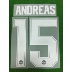 Official ANDREAS #15 Manchester United Home CUP UCL 2018-19 PRINT