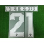 Official ANDER HERRERA #21 Manchester United Home CUP UCL 2018-19 PRINT