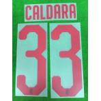 Official CALDARA #33 AC Milan Away 2018-20 Name Number