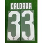 Official CALDARA #33 AC Milan Home 2018-20 Name Number
