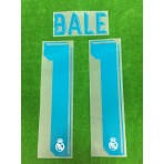 Official BALE #11 Real Madrid CF Home 2017-18 SPORTING ID PRINT
