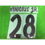 Official VINICIUS JR. #28 Real Madrid Home 2018-19 PRINT
