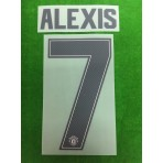 Official ALEXIS #7 Manchester United Away CUP UCL 2018-19 PRINT