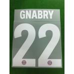 Official GNABRY #22 Bayern Munich 3rd UCL 2018-19 DEKOGRAPHICS PU PRINT