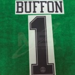 Official BUFFON #1 PSG 3rd UCL (ORANGE Jersey) 2018-19 PRINT