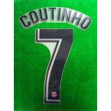 OFFICIAL PLAYER ISSUE COUTINHO #7 FC Barcelona 3rd 2018-19 PRINT