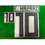 Official E.HAZARD #10 Belgium Away World Cup 2018 PRINT