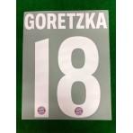 Official GORETZKA #18 Bayern Munich 3rd 2018-19 DEKOGRAPHICS PU PRINT