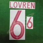 Official LOVREN #6 CROATIA Away World Cup 2018 PRINT