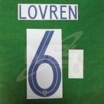 Official LOVREN #6 CROATIA Home World Cup 2018 PRINT