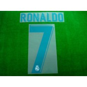 Official RONALDO #7 Real Madrid Home 2017-18 SPORTING ID PRINT