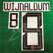 Official WIJNALDUM #8 NETHERLANDS Home 2018-19 PRINT