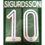 Official SIGURDSSON #10 EVERTON FC Home CUP 2018-19 PRINT