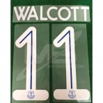 Official WALCOTT #11 EVERTON FC Home CUP 2018-19 PRINT