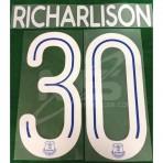 Official RICHARLISON #30 EVERTON FC Home CUP 2018-19 PRINT