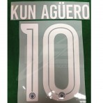 OFFICIAL KUN AGUERO #10 Manchester City Away 3rd UCL CUP 2018-19 PRINT