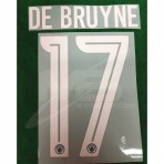 OFFICIAL DE BRUYNE #17 Manchester City Away 3rd UCL CUP 2018-19 PRINT