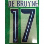 OFFICIAL DE BRUYNE #17 Manchester City FC HOME UCL CUP 2018-19 PRINT