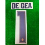 PLAYER ISSUE Official DE GEA #1 Manchester United 3rd GK CUP UCL 2018-19 PRINT