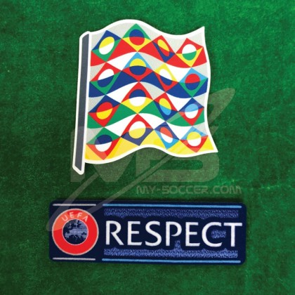 Official UEFA NATIONS LEAGUE 2019 + RESPECT Patches