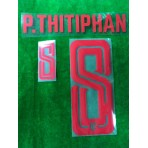 Official PLAYER ISSUE P.THITIPHAN #8 Thailand Home 2019 PRINT