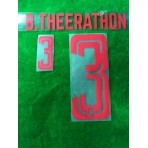 Official PLAYER ISSUE B.THEERATHON #3 Thailand Home 2019 PRINT