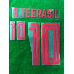 Official PLAYER ISSUE D.TEERASIL #10 Thailand Home 2019 PRINT